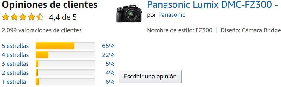 Panasonic Lumix DMC-FZ300 oferta barata 2020