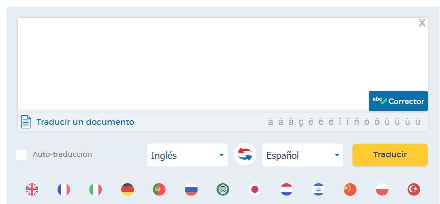 el traductor inglés a español