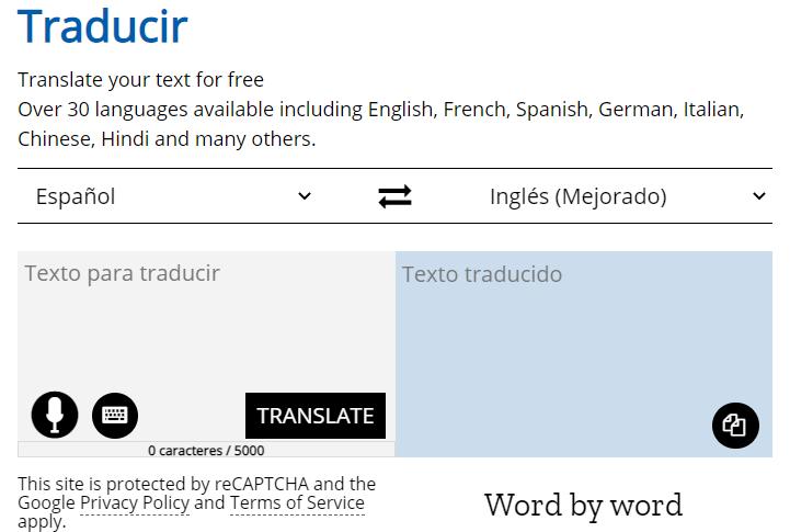 español a ingles traducir