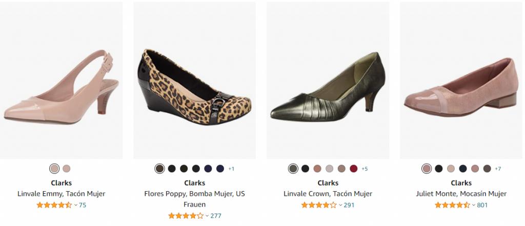 zapatos clarks para mujer