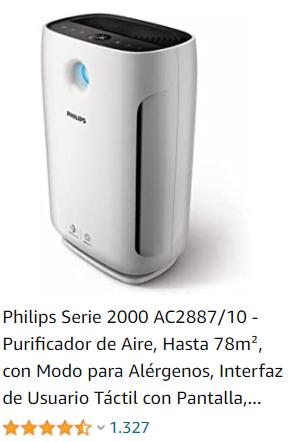 purificador de aire philips alergenos