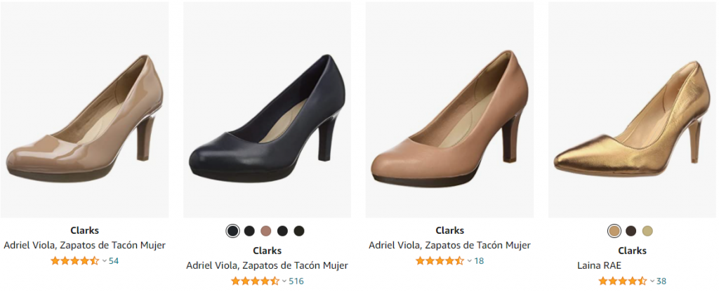 zapatos de tacon clarks